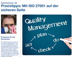 Checkliste Netzheimer gibt Tipps zu ISO-27001
