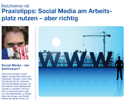 Checkliste Netzheimergibt Tipps zum Thema Social Media am Arbeitsplatz